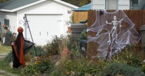 pumpkin-head-fence
